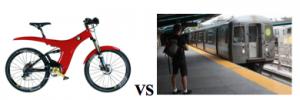 electric bike vs subway
