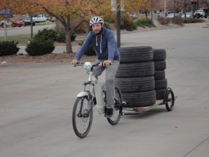 1 horsepower Optibike ELectric  Bike Carrying Large Loads